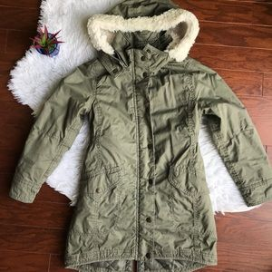 Kids Green Winter Coat - 8-9Youth Size